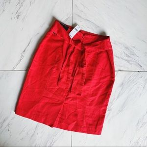 BANANA REPUBLIC nwt red skirt